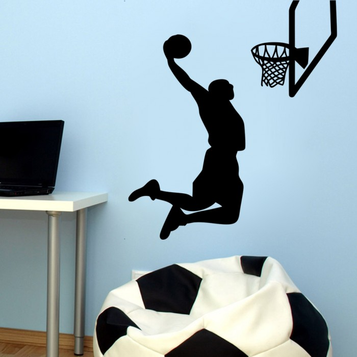 basketball player slam dunk sports wall sticker With best brand of paint for kitchen cabinets with lebron james stickers